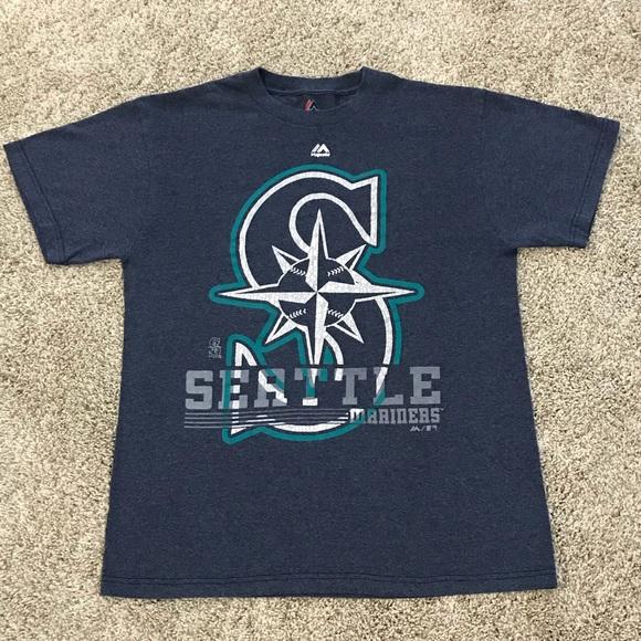 9a15fcbb Majestic Shirts | Mlb Baseball Seattle Mariners Tee Tshirt | Poshmark